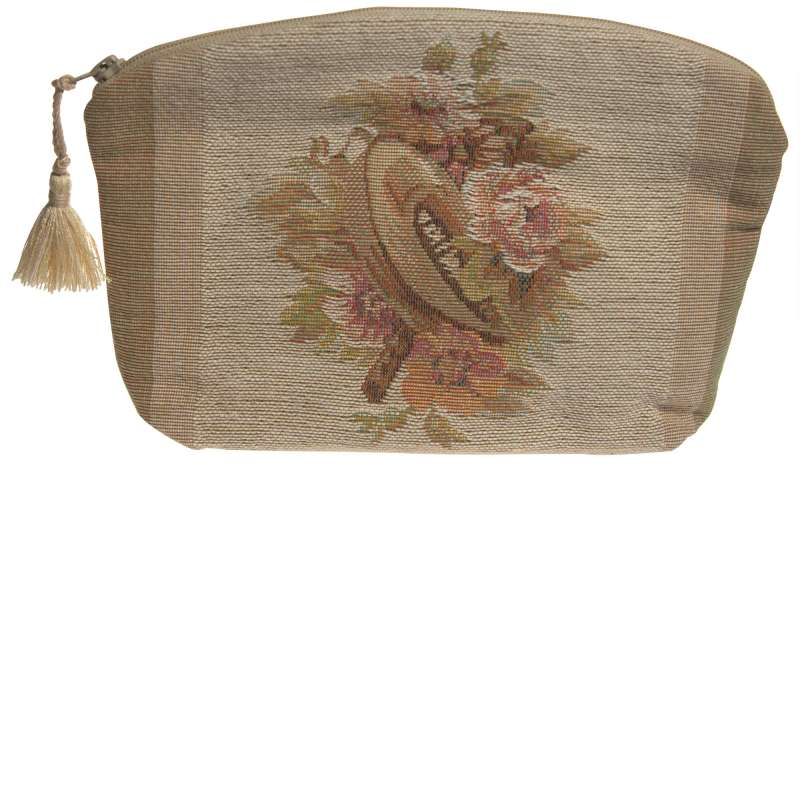 Horns and Flowers Purse Tapestry Handbag