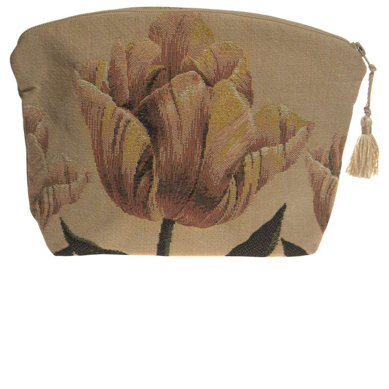 Orange Tullip Purse Tapestry Handbag