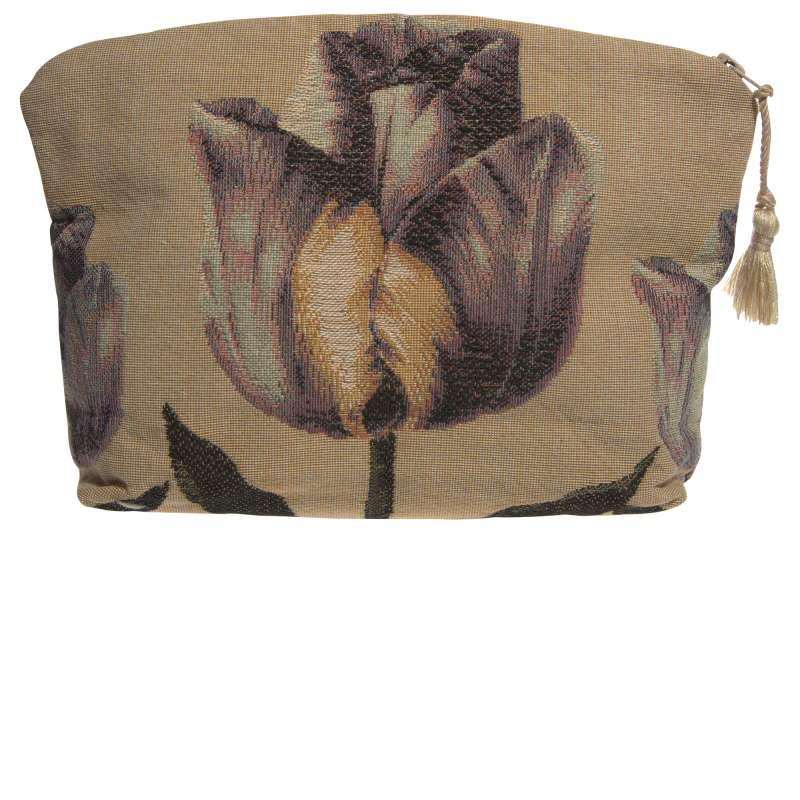 Purple Tullip Purse Tapestry Handbag