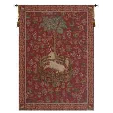 Licorne Captive Rouge French Tapestry
