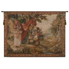 Bouquet Au Drape Fontaine with People French Tapestry