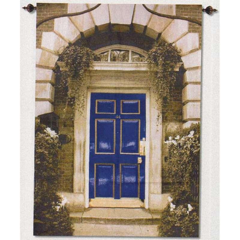 Blue Door Fine Art Tapestry
