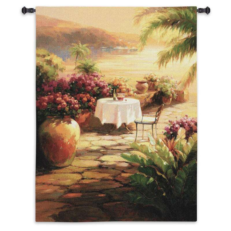 Courtyard View II Tapestry Wall Hanging