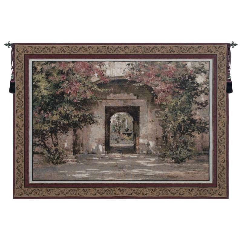 Flowered Doorway Tapestry Wall Hanging