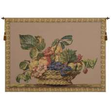 Fruit Basket Beige European Tapestry Wall Hanging