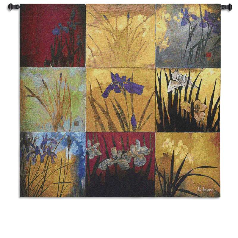 Iris Nine Patch Tapestry Wall Hanging