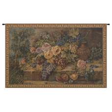 Bouquet with Grapes Italian Tapestry Wall Hanging