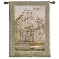 Oiseav Cage Cerise I Tapestry Wall Hanging