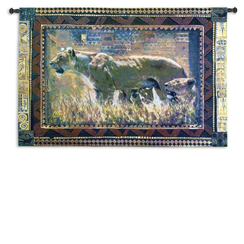 Protecting Her Cubs Tapestry Wall Hanging