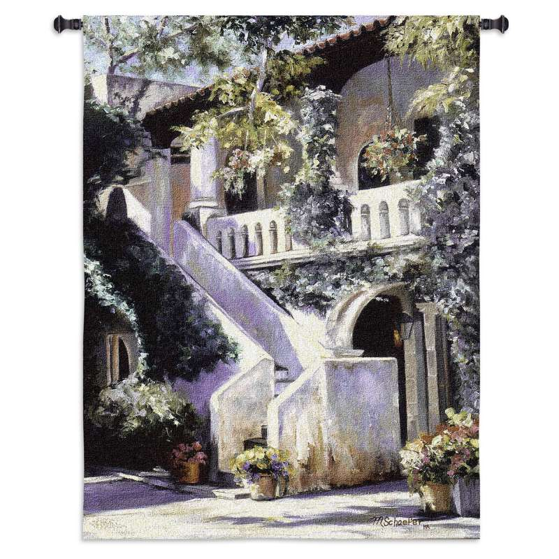 Balcony de la Flora Tapestry Wall Hanging