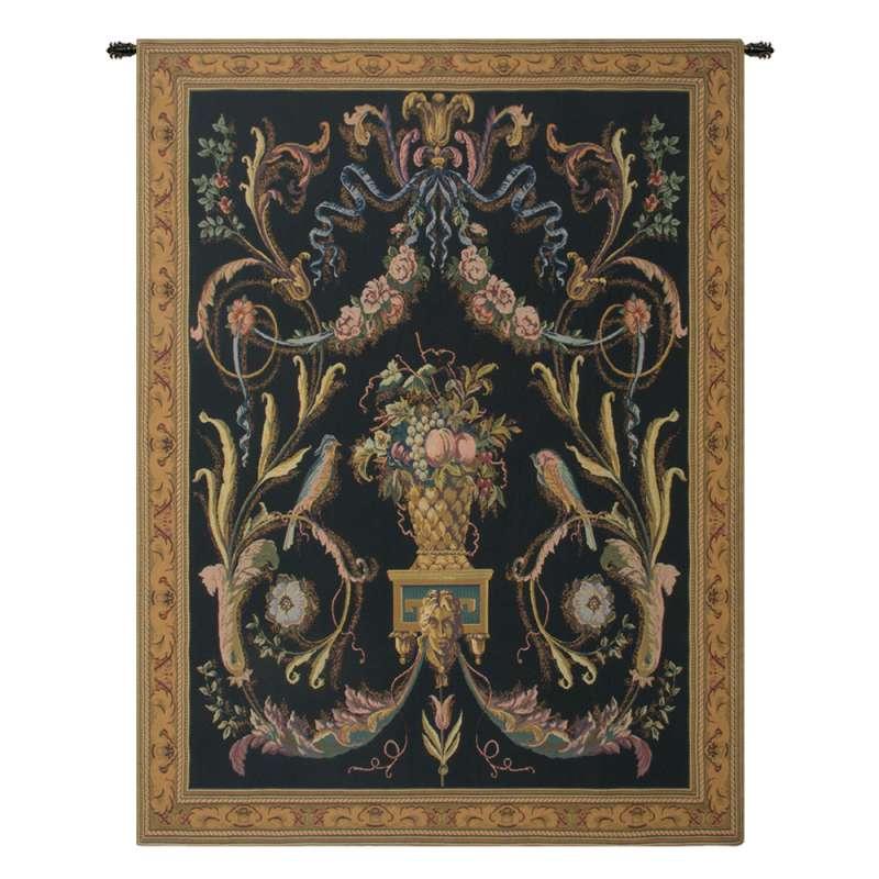 Birds Black Flanders Tapestry Wall Hanging