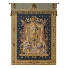 Napolean Dark Blue Belgian Tapestry Wall Hanging