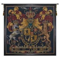 Stuart Crest Belgian Tapestry Wall Hanging