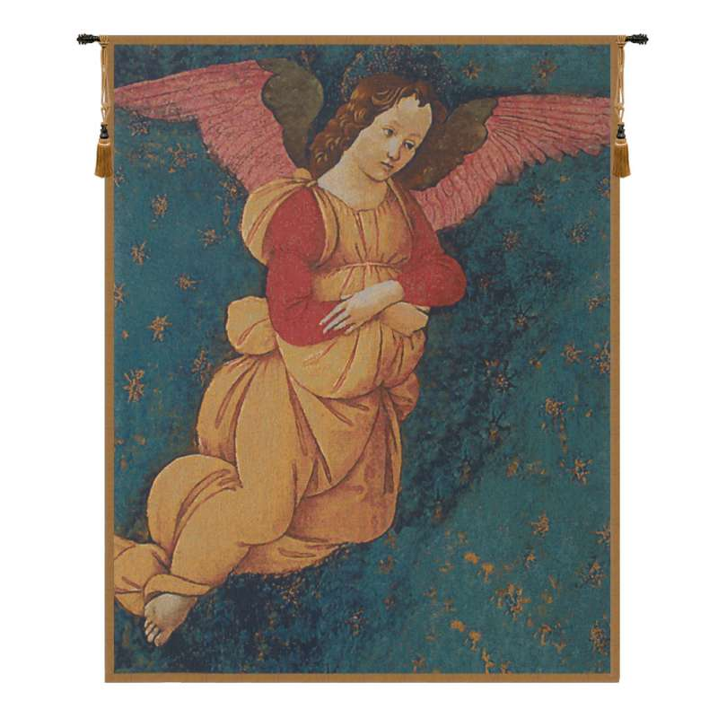 Angels Altarpiece Vertical Flanders Tapestry Wall Hanging
