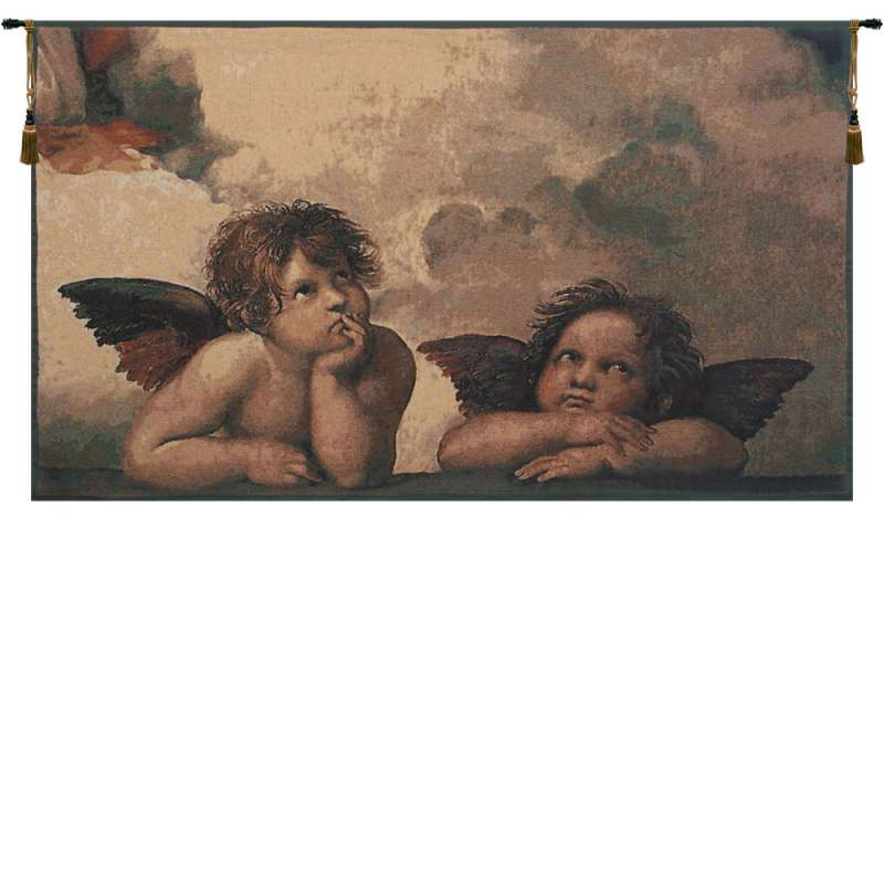 Angels by Raffael Belgian Tapestry Wall Hanging