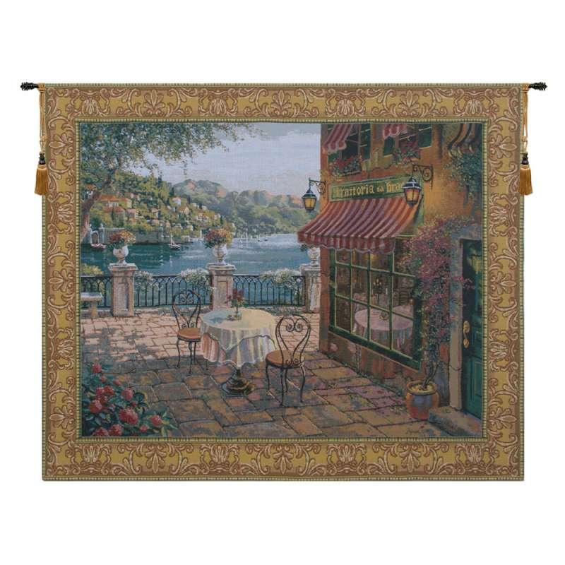 Terrasse Belgian Tapestry Wall Hanging