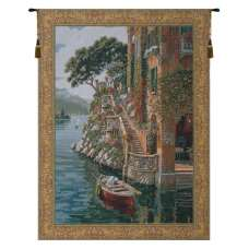 Lake Como Belgian Tapestry Wall Hanging