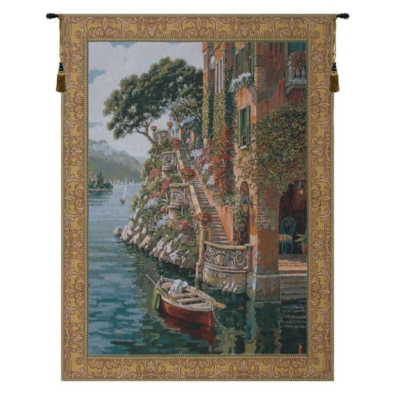 Lake Como Belgian Tapestry Wall Hanging