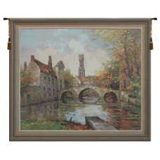 Lake of Love  Belgian Tapestry Wall Hanging