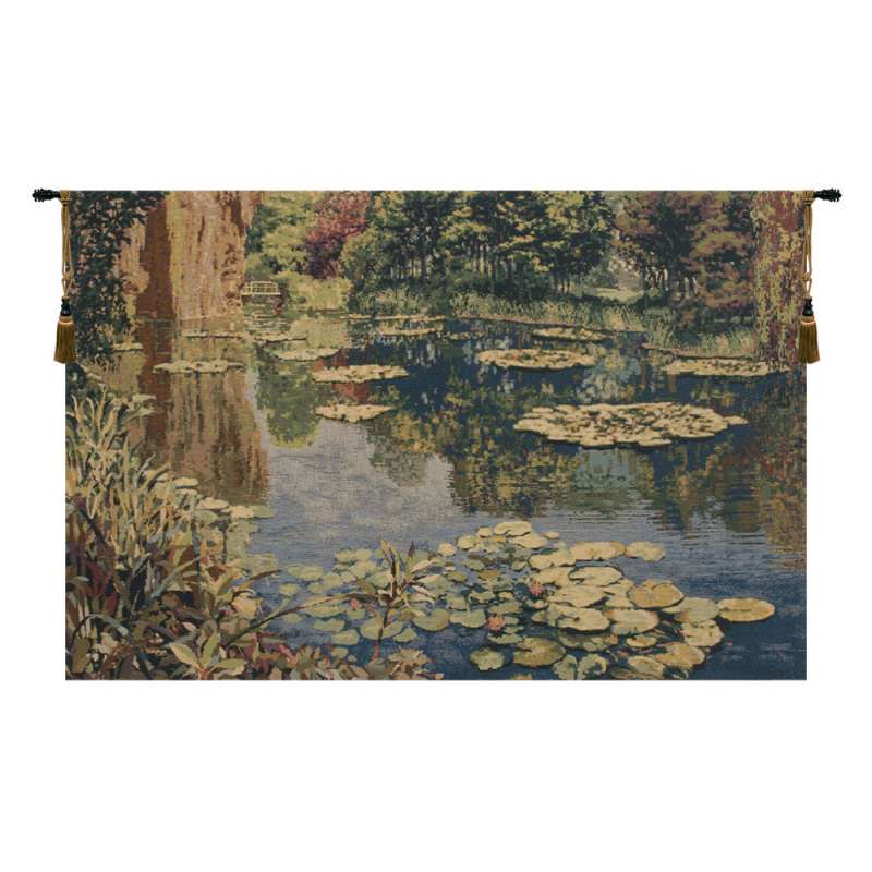 Lake Giverny Without Border Belgian Tapestry Wall Hanging