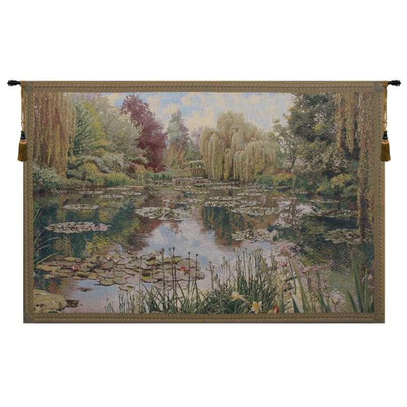 Monet Horizontal Small Belgian Tapestry Wall Hanging