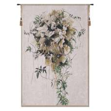 Brides Bouquet Belgian Tapestry Wall Hanging