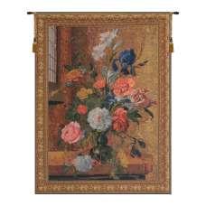 Summer Flowers Belgian Tapestry Wall Hanging