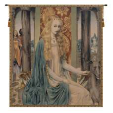 Lady Belgian Tapestry Wall Hanging