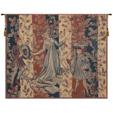 Baille des Roses Belgian Tapestry Wall Hanging