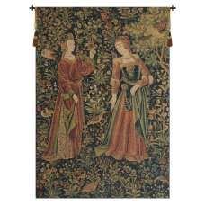Promenade Left Panel Belgian Tapestry Wall Hanging
