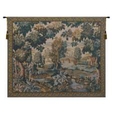 Paysage Flamand Moulin Belgian Tapestry Wall Hanging