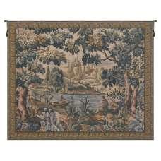 Paysage Flamand Village Belgian Tapestry Wall Hanging