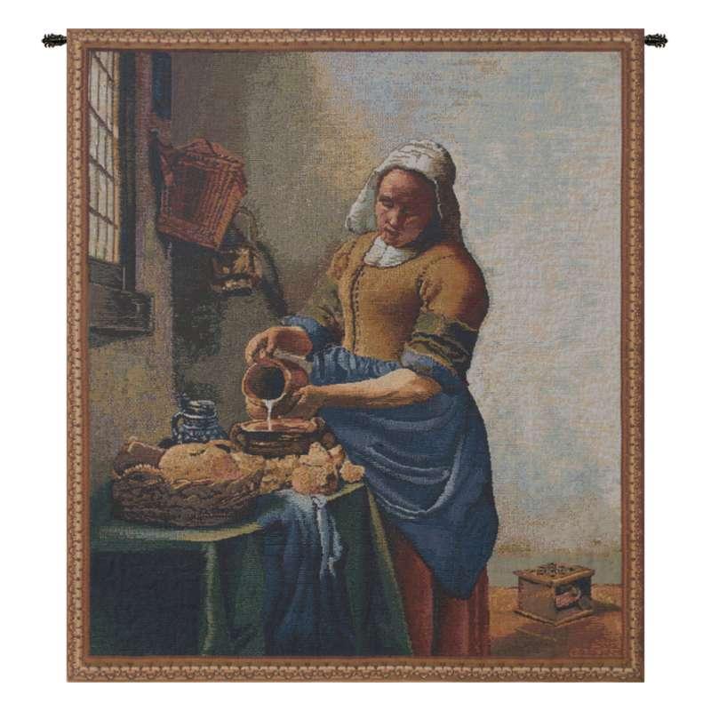 Servant Girl Belgian Tapestry Wall Hanging