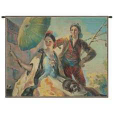 Quitasol Small Belgian Tapestry Wall Hanging
