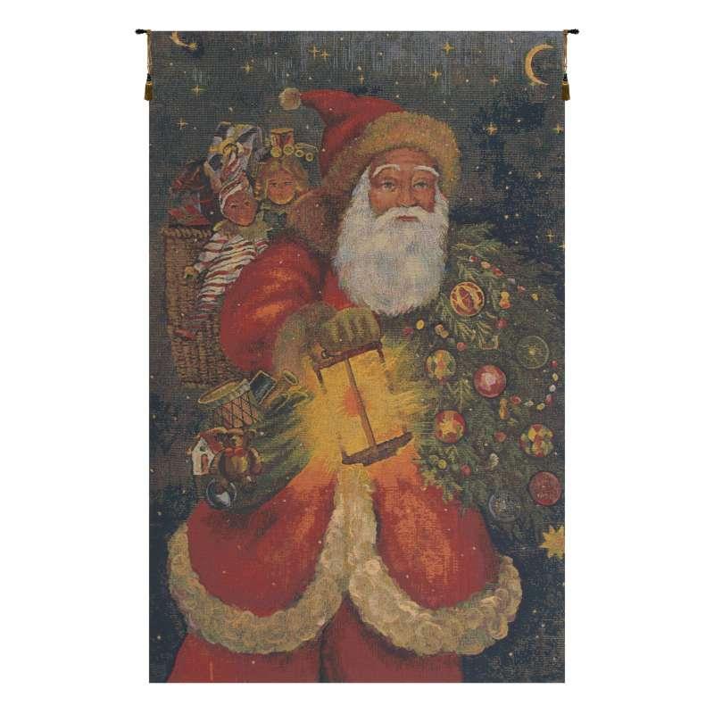Santa Claus Belgian Tapestry Wall Hanging