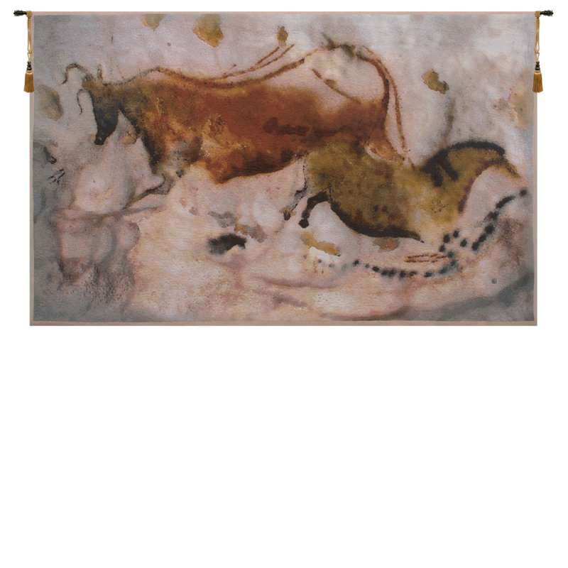 Vache et Cheval Belgian Tapestry Wall Hanging