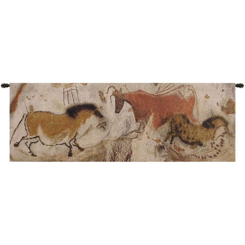 Lascaux Part Belgian Tapestry Wall Hanging