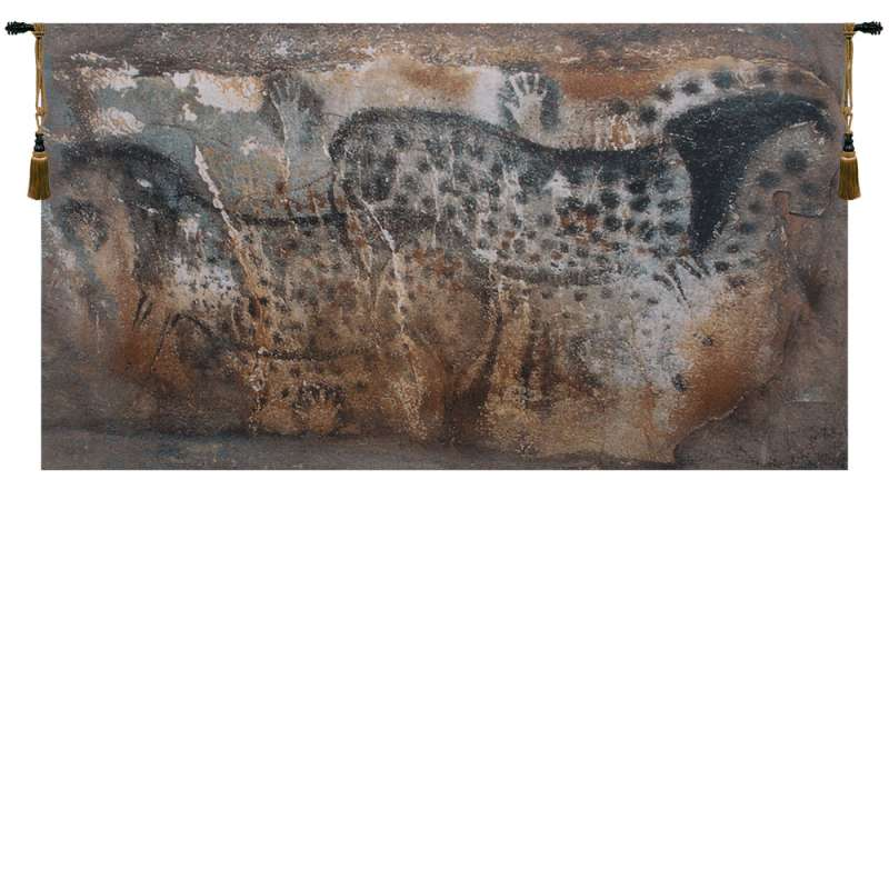 Hands and Horses Belgian Tapestry Wall Hanging