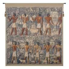 Saqqarah Blue Belgian Tapestry Wall Hanging