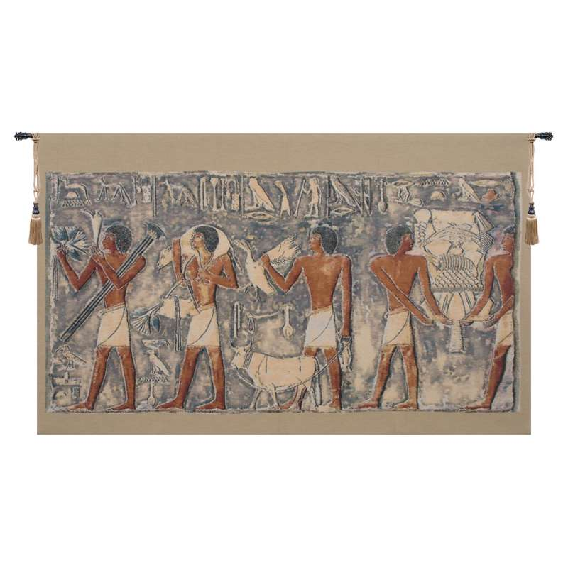 Saqqarah Blue Part I Belgian Tapestry Wall Hanging