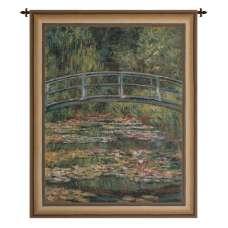Japanese Bridge Gold Belgian Tapestry Wall Hanging