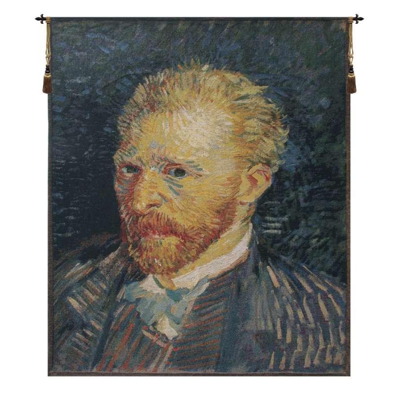 Portrait of Van Gogh Belgian Tapestry Wall Hanging