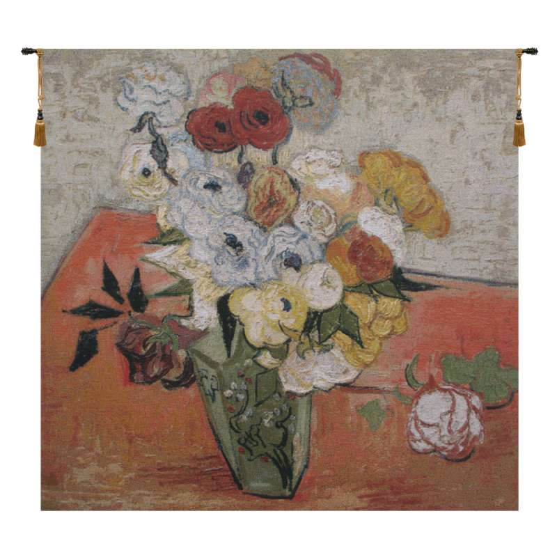 Van Gogh Roses and Anemones Flanders Tapestry Wall Hanging