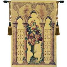 Floral Urn with Columns European Tapestry