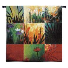 Tropical Nine Patch Tapestry Wall Hanging