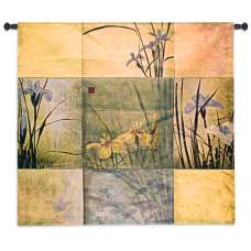 Iris Nine Patch I Tapestry Wall Hanging