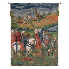 The Falcon Hunt Duke of Berry European Tapestry Wall Hanging