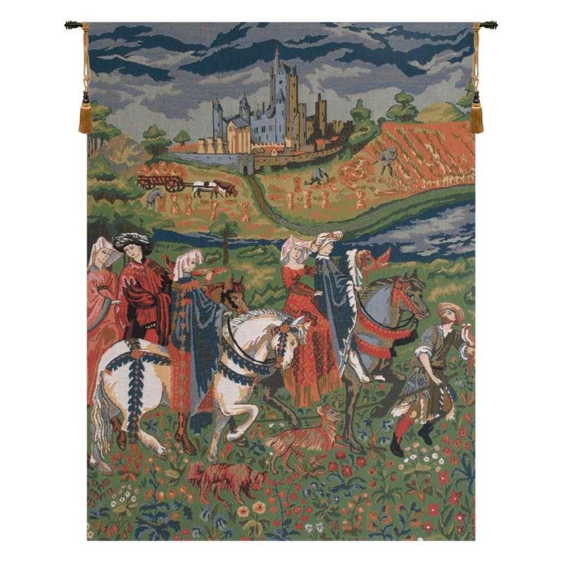 The Falcon Hunt Duke of Berry European Tapestry