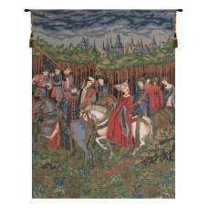 The Falcon Chase Duke of Berry European Tapestry Wall Hanging