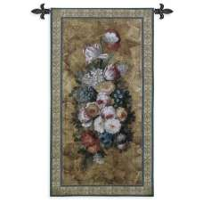 Floral Reflections I Tapestry Wall Hanging